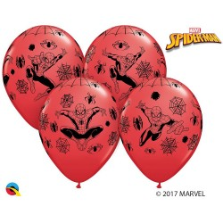 GLOBOS SPIDERMAN ROJO