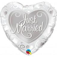 GLOBO CORAZON JUST MARRIED PLATA