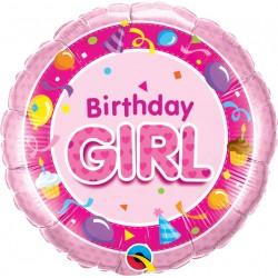 GLOBO REDONDO BIRTHDAY GIRL ROSA