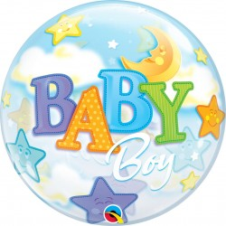 GLOBO BUBBLE SENCILLO BABY BOY