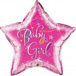 GLOBO ESTRELLA WELCOME BABY GIRL