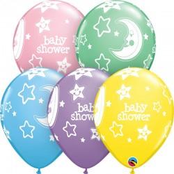 GLOBO BABY SHOWER LUNA Y ESTRELLAS