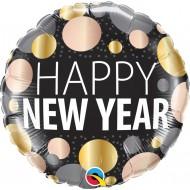 GLOBO REDONDO PUNTOS HAPPY NEW YEAR