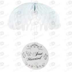 PARACAIDAS PAPEL JUST MARRIED