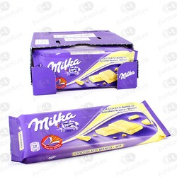 CHOCOLATINA TABLETA MILKA BLANCO