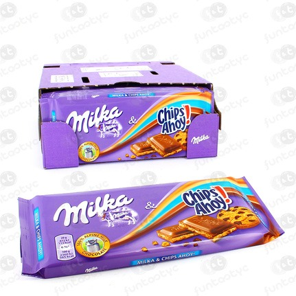 CHOCOLATINA TABLETA MILKA CHIPS AHOY