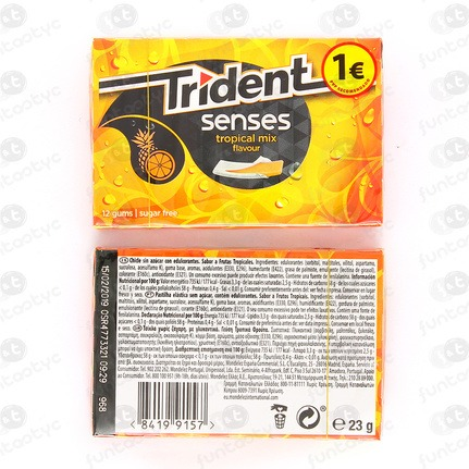 CHICLES TRIDENT SENSES TROPICAL