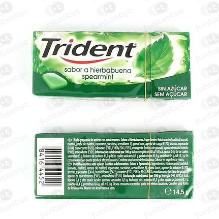 CHICLES TRIDENT FRESH HIERBABUENA