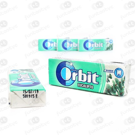 CHICLES ORBIT GRAGEA EUCALIPTO