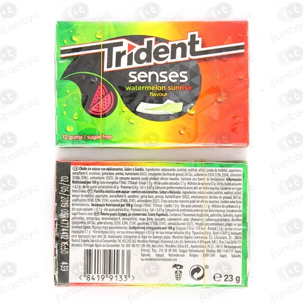 CHICLES TRIDENT SENSES WATERMELON