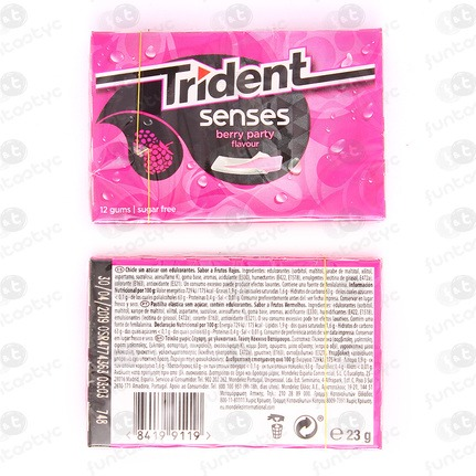 CHICLES TRIDENT SENSES BERRY PARTY