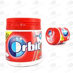 CHICLES ORBIT BOX FRESA GRAGEAS