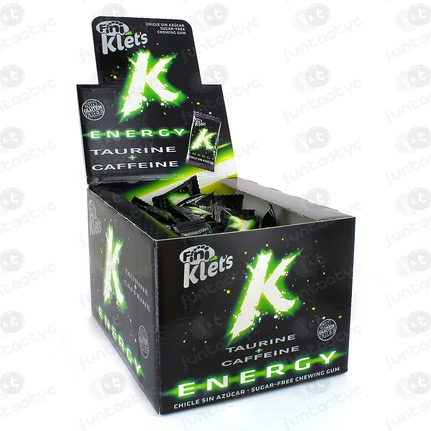CHICLE KLETS ENERGY TAURINA Y CAFEINA