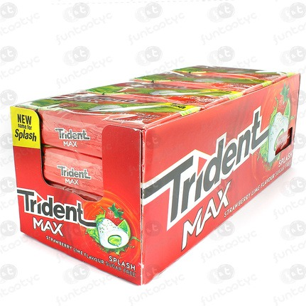 CHICLES TRIDENT MAX FRESA/LIMA