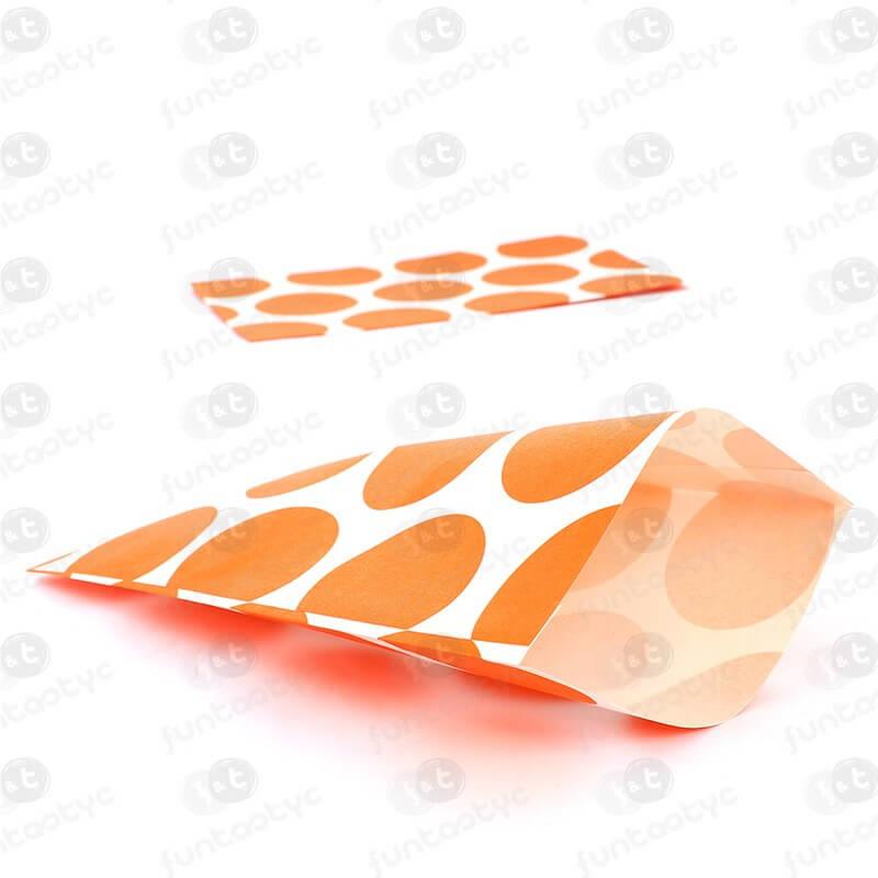789415f0e Bolsa de papel para candy bar de color naranja.