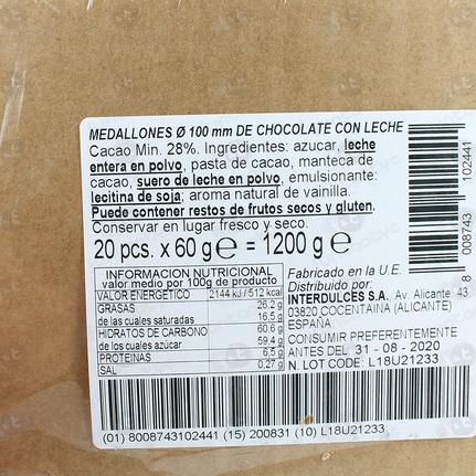 MEDALLONES DE CHOCOLATE