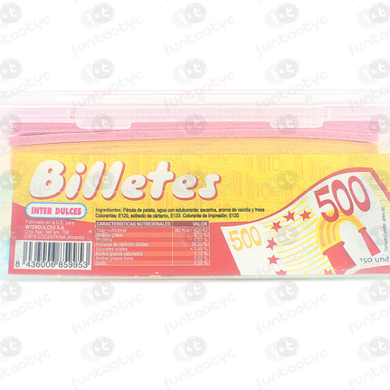 BILLETES GIGANTES DE OBLEA