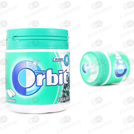 CHICLES ORBIT BOX EUCALIPTO GRAGEAS