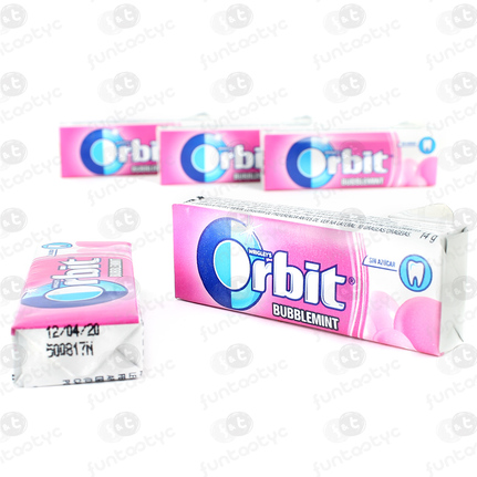 CHICLES ORBIT GRAGEA BUBBLEMINT CHICLE