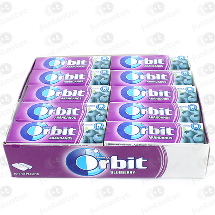 CHICLES ORBIT GRAGEA ARANDANOS