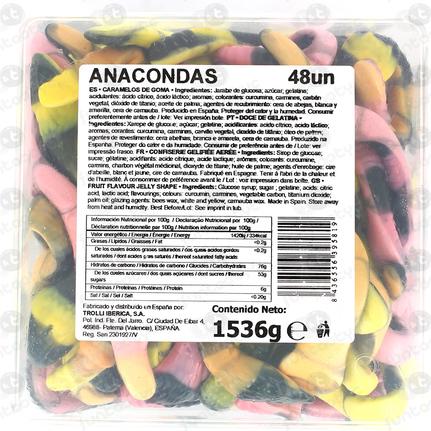 ANACONDAS GOLOSINA 48 UNIDADES TROLLI