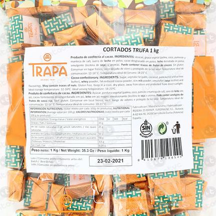 BOMBONES CORTADOS TRUFA TRAPA