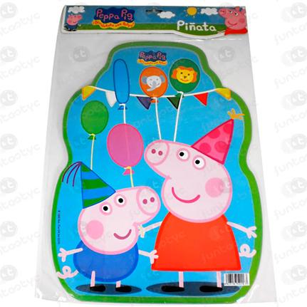 PIÑATA PERFIL PEPPA PIG TIRAR DEL LAZ
