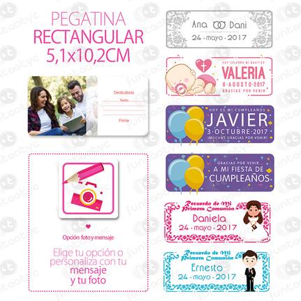 ETIQUETA RECTANGULAR 5.1X10.2cm A COLOR