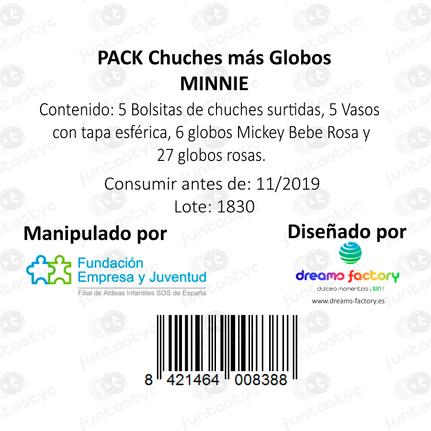 PACK CHUCHES + GLOBOS MINNIE