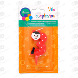 VELA CUMPLE ANIMALES Nº3 COLOR SURTIDO