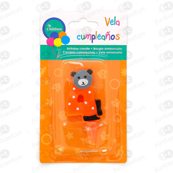 VELA CUMPLE ANIMALES Nº4 COLOR SURTIDO