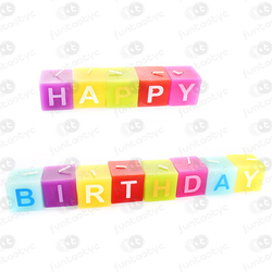 VELAS CUADRADAS HAPPY BIRTHDAY