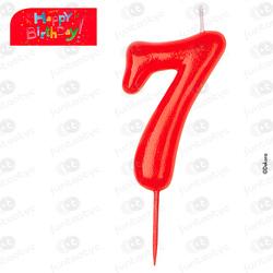 VELAS COMIC Nº7 CUMPLEAÑOS