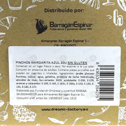 PINCHOS DE NUBE MARGARITA AZUL