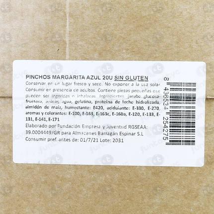 PINCHOS DE NUBE MARGARITA
