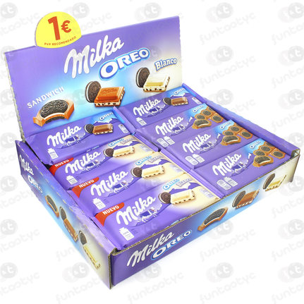 LOTE TABLETAS DE CHOCOLATE MILKA OREO