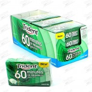 CHICLES TRIDENT 60 MINUTOS HIERBA