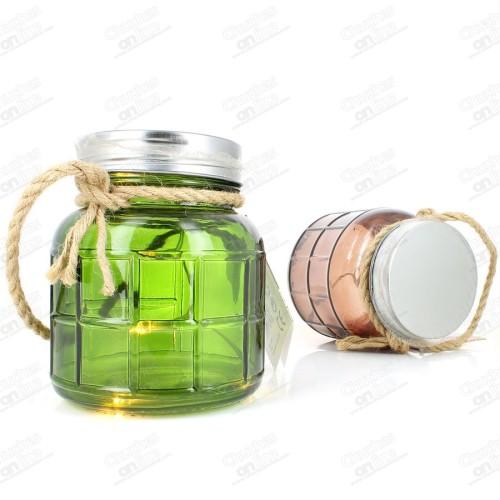 Vaso vidrio decorativo con luz LED