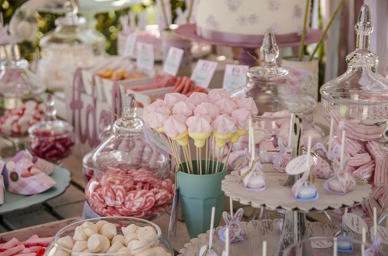 mesas de dulces para celebraciones