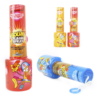 BOMBA FLASH SPRAY CON LUZ