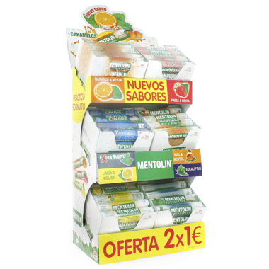 EXPOSITOR TUBOS MENTOLIN 2X1€