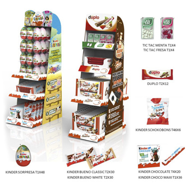 EXPOSITOR KINDER KIDS&SNACKS