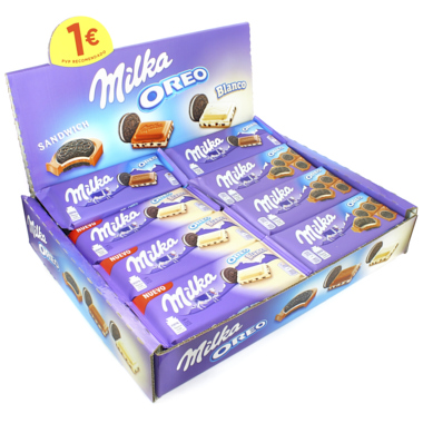LOTE TABLETAS DE CHOCOLATE MILKA OREO