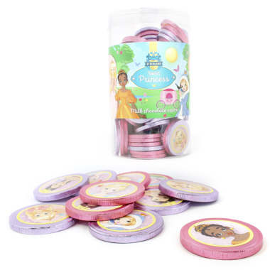MONEDAS CHOCOLATE TARRO PRINCESITAS