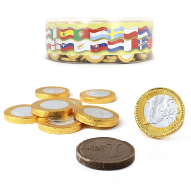 MONEDAS CHOCOLATE 1€ BICOLOR