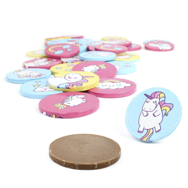 MONEDAS CHOCOLATE UNICORNIO