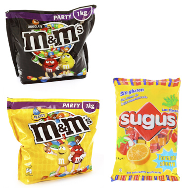 LOTE GRANEL M&M'S KG+ SUGUS+M&M'S 400GR