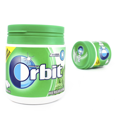 CHICLES ORBIT BOX HIERBA GRAGEAS