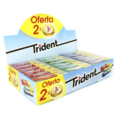 PACK TRIDENT CHICLES LAMINA 2X1€