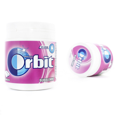 CHICLES ORBIT BOX BUBBLEMINT GRAGEAS
